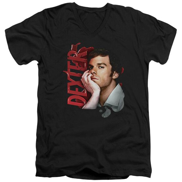 Dexter Layered Short Sleeve Adult V Neck T-Shirt