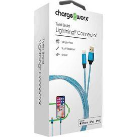 Chargeworx Twist Braid Lightning Connector [Blue]
