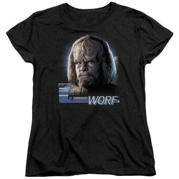 Star Trek Tng Worf Short Sleeve Womens Tee T-Shirt