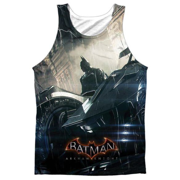 Batman Arkham Knight Into The Night Adult 100% Poly Tank Top