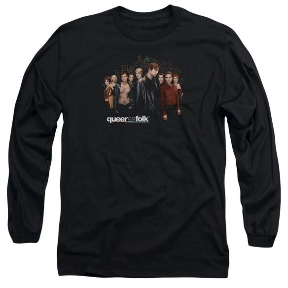 Queer As Folk Title Long Sleeve Adult T-Shirt