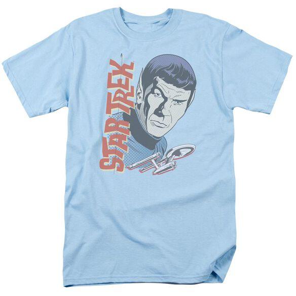 Star Trek Vintage Spock Short Sleeve Adult Light Blue T-Shirt