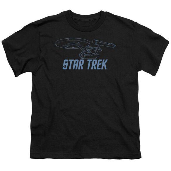 Star Trek Enterprise Outline Short Sleeve Youth T-Shirt