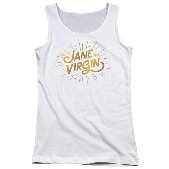 Jane The Virgin Golden Logo Juniors Tank Top