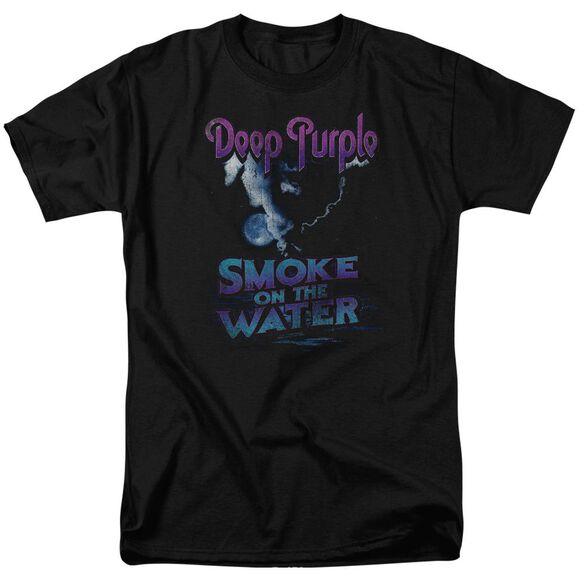 Deep Purple Smokey Water Short Sleeve Adult T-Shirt