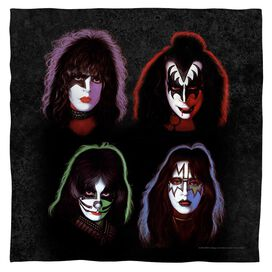 Kiss Solo Heads Bandana White