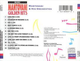 Mantovani/Mantovani Orchestra - More Mantovani Golden Hits