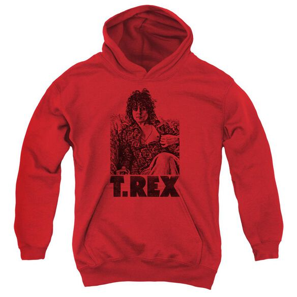 T Rex Lounging Youth Pull Over Hoodie
