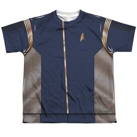 Star Trek Discovery Discovery Uniform Short Sleeve Youth Poly Crew T-Shirt
