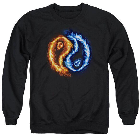 Flame Yang Adult Crewneck Sweatshirt