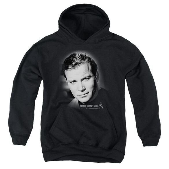 Star Trek Captain Kirk Portrait Youth Pull Over Hoodie