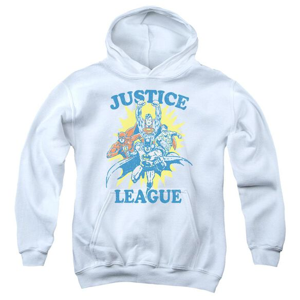 Jla Let's Do This Youth Pull Over Hoodie