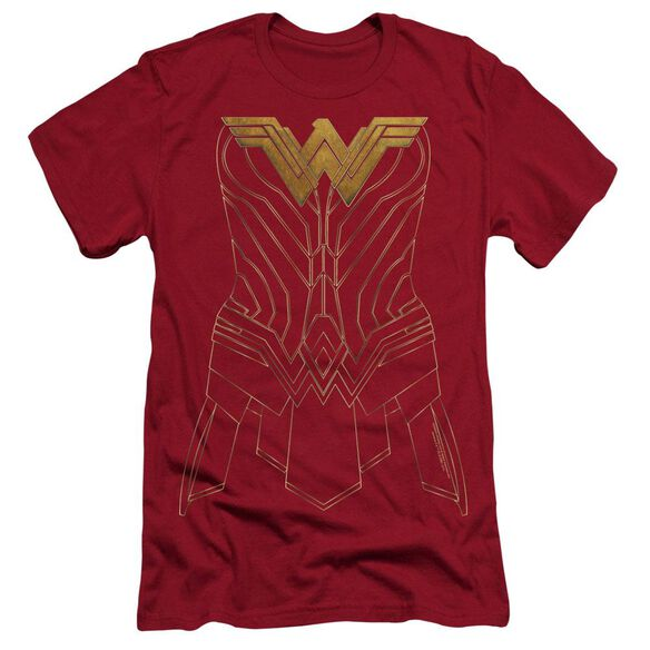 Wonder Woman Movie Armor Outline Hbo Short Sleeve Adult T-Shirt