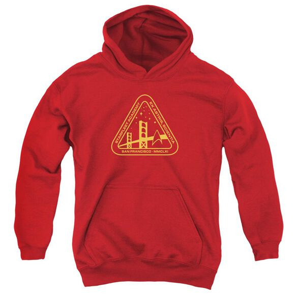 Star Trek Gold Academy-youth Pull-over Hoodie - Red