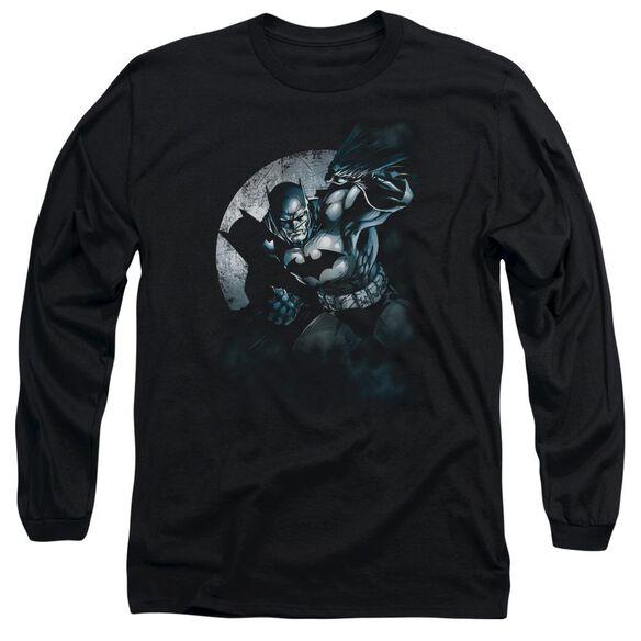 BATMAN BATMAN SPOTLIGHT - L/S ADULT 18/1 - BLACK T-Shirt