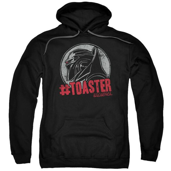 Bsg #Toaster Adult Pull Over Hoodie Black