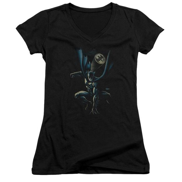 Batman Calling All Bats - Junior V-neck - Black