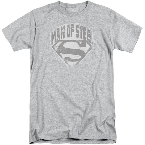 Superman Man Of Steel Shield Short Sleeve Adult Tall Athletic T-Shirt