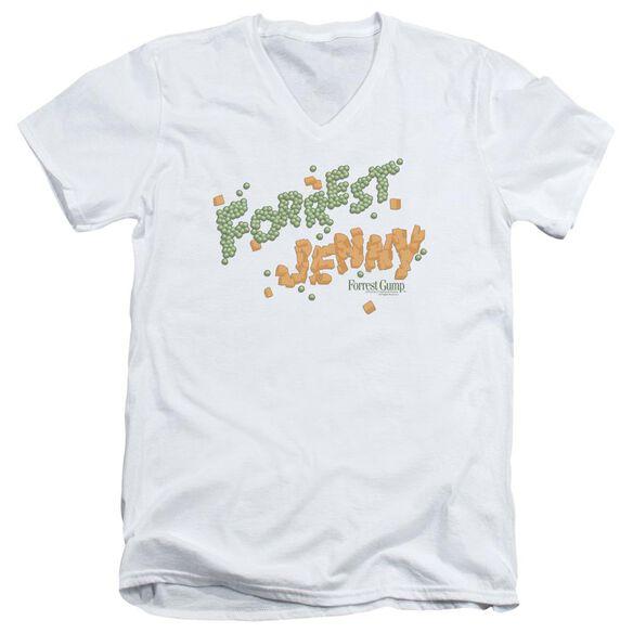 Forrest Gump Peas And Carrots Short Sleeve Adult V Neck T-Shirt
