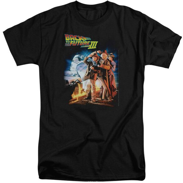 Back To The Future Iii Poster Short Sleeve Adult Tall T-Shirt