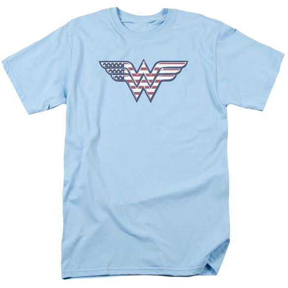 Dc Red,White & Short Sleeve Adult Light T-Shirt
