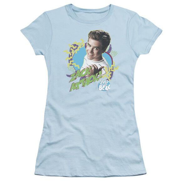 Saved By The Bell Zack Attack Short Sleeve Junior Sheer Light T-Shirt
