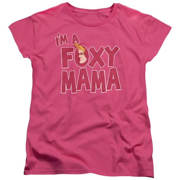 Johnny Bravo Foxy Mama Short Sleeve Womens Tee Hot T-Shirt