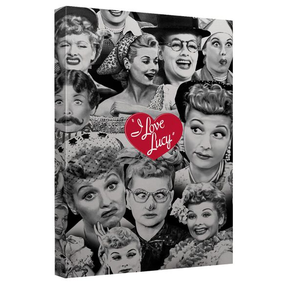 I Love Lucy Faces Quickpro Artwrap Back Board