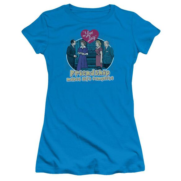 I Love Lucy Complete Short Sleeve Junior Sheer T-Shirt