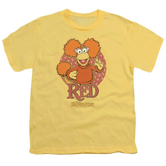 Fraggle Rock Red Circle Short Sleeve Youth T-Shirt