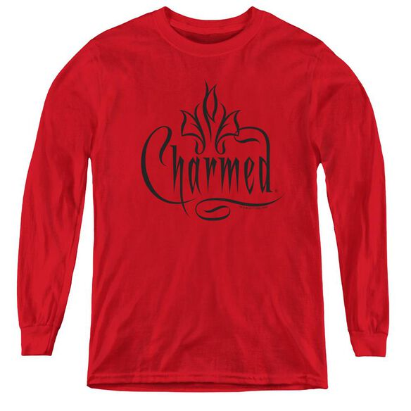 Charmed Charmed Logo - Youth Long Sleeve Tee - Red