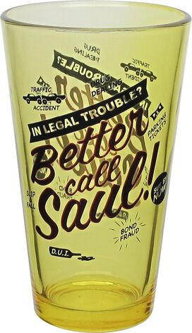 Breaking Bad Better Call Saul Ad Yellow Pint Glass