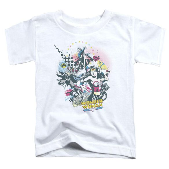 Dc Power Trio Short Sleeve Toddler Tee White Sm T-Shirt