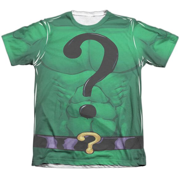 Batman Riddler Uniform Adult Poly Cotton Short Sleeve Tee T-Shirt