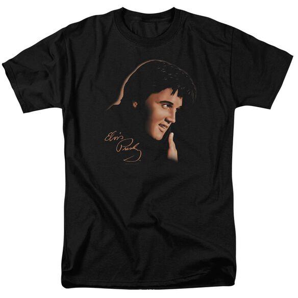 Elvis Warm Portrait Short Sleeve Adult T-Shirt