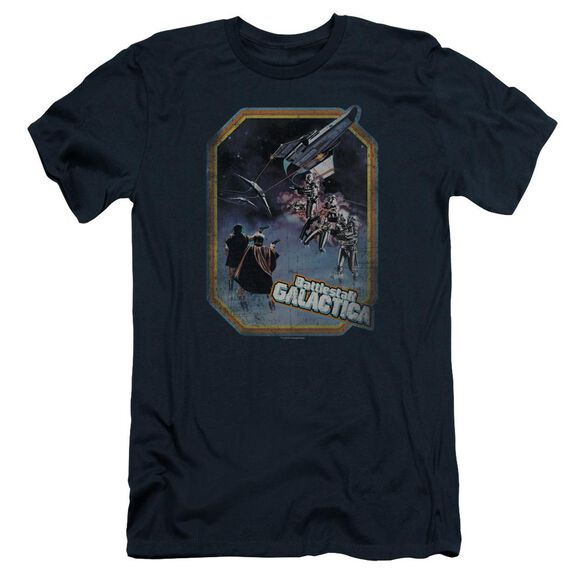 BSG POSTER IRON ON - S/S ADULT 30/1 - NAVY T-Shirt