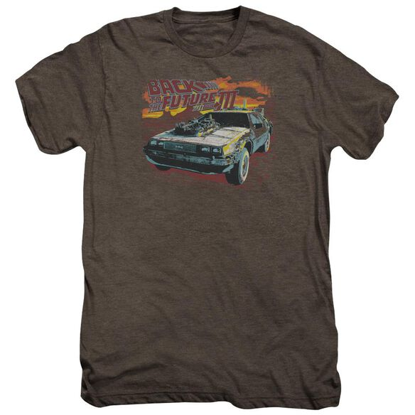Back To The Future Iii Wild West Adult Premium Tee Mocha