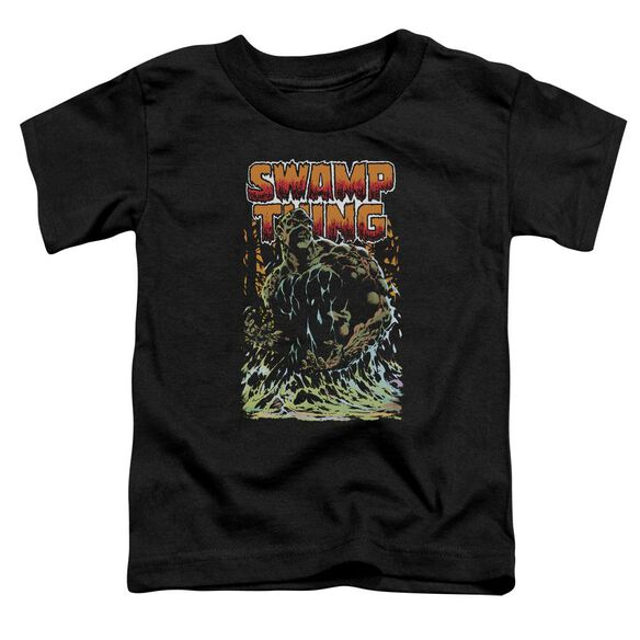 Jla Swamp Thing Short Sleeve Toddler Tee Black T-Shirt
