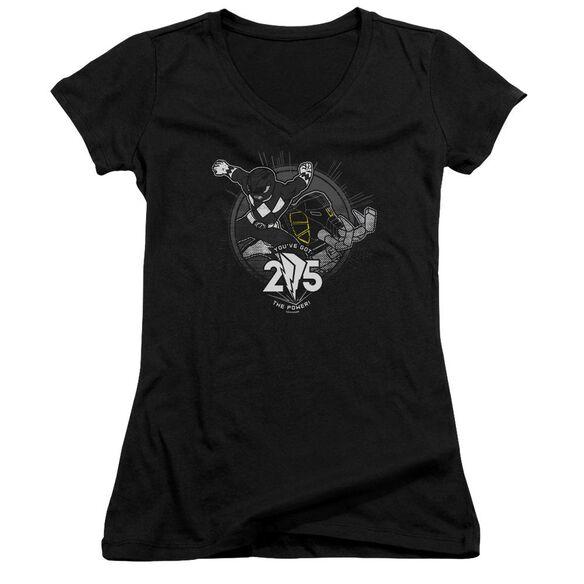 Power Rangers 25 Junior V Neck T-Shirt