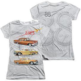 Oldsmobile Rocket Line (Front Back Print) Short Sleeve Junior Poly Crew T-Shirt