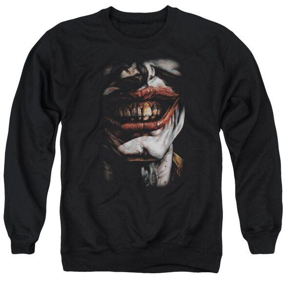 Batman Smile Of Evil Adult Crewneck Sweatshirt