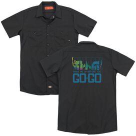 Wham Wake Me Up Before You Go Go (Back Print) Adult Work Shirt