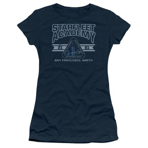 Star Trek Starfleet Academy Earth Short Sleeve Junior Sheer T-Shirt