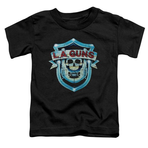La Guns La Guns Shield Short Sleeve Toddler Tee Black T-Shirt