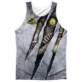 Jurassic Park Live Raptro Adult 100% Poly Tank Top