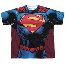 Superman New 52 Superman Short Sleeve Youth Poly Crew T-Shirt