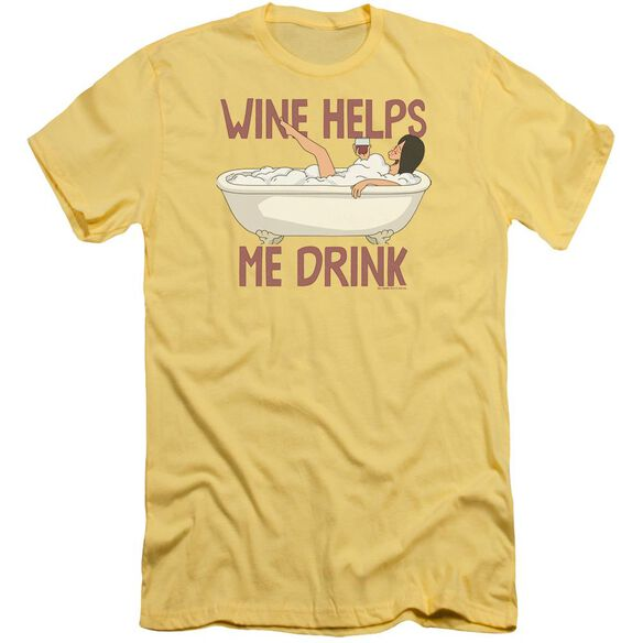Bobs Burgers Wine Helps Premuim Canvas Adult Slim Fit