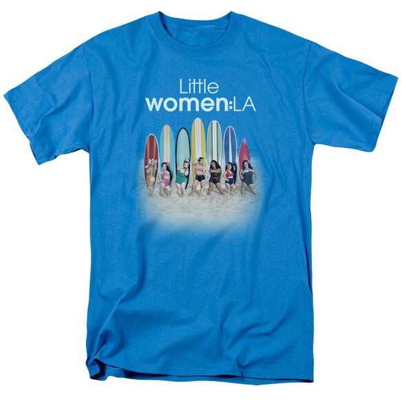 Little Women La Surfs Up Short Sleeve Adult Turquoise T-Shirt