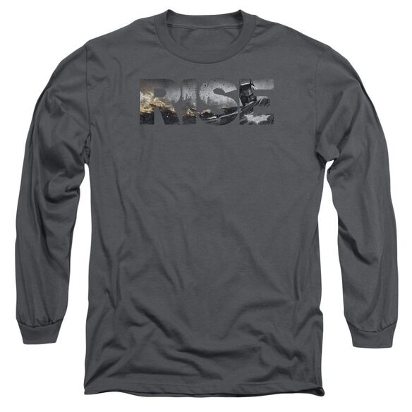 Dark Knight Rises Title Long Sleeve Adult T-Shirt