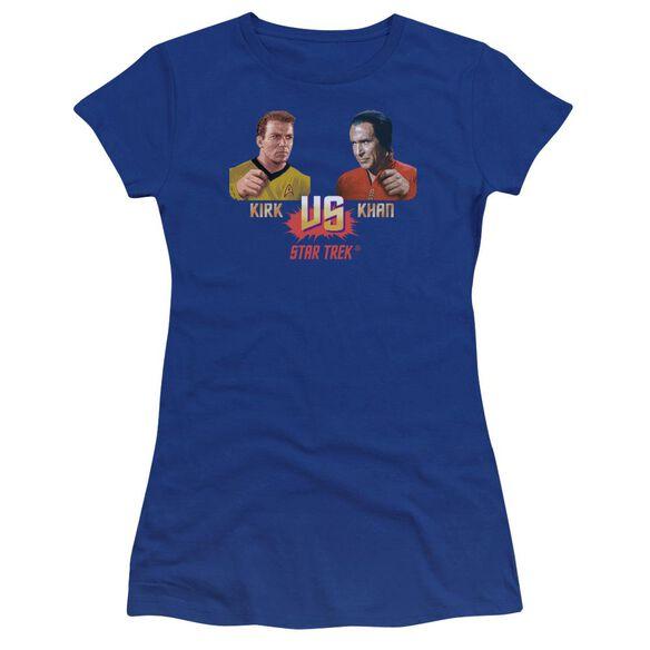 Star Trek Kirk Vs Khan Premium Bella Junior Sheer Jersey Royal